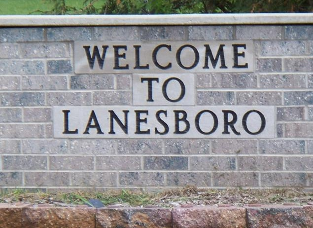Welcome to Lanesboro sign